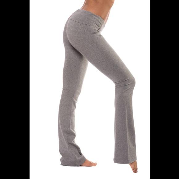 4a9550b70a293 Hard Tail Pants | Hardtail Roll Down Boot Cut Yoga Pant 330 Gray ...